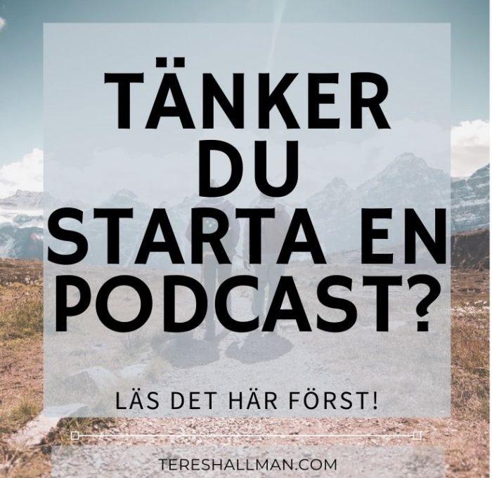 starta en podcast